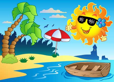 Summer theme image 4 - vector illustration.