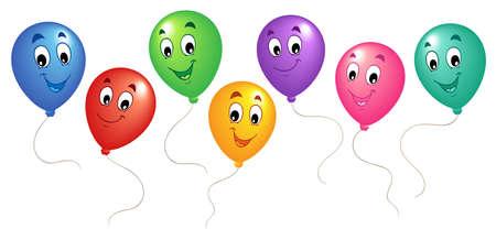 Illustration pour Group of cartoon balloons 3 - vector illustration. - image libre de droit