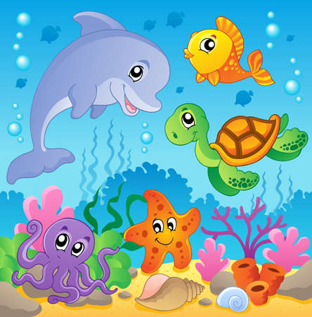 Image with undersea theme 2 - vector illustration