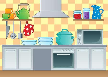 Kitchen theme image 1 - vector illustration