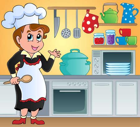 Kitchen theme image 6 - vector illustration