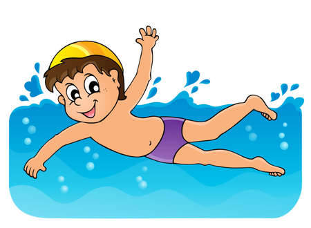 Swimming theme image 3