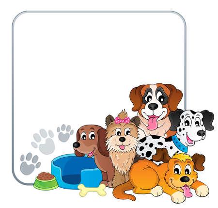 Frame with dog theme