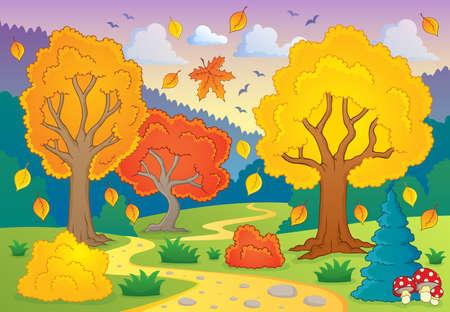 Illustration pour Autumn thematic   - image libre de droit