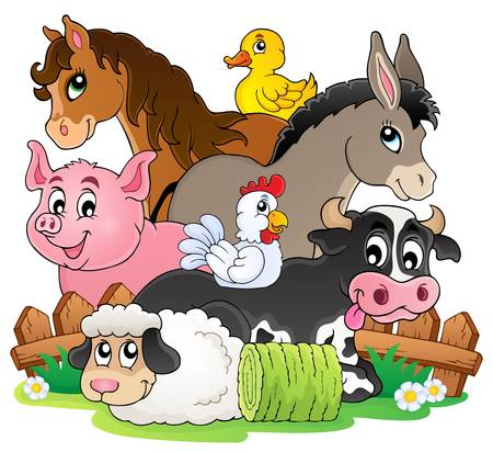 Farm animals topic image 2 - eps10 vector illustration