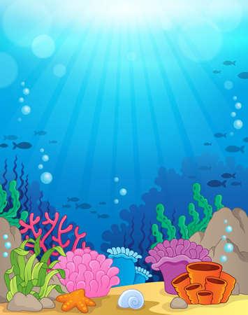 Illustration pour Ocean underwater theme background - image libre de droit