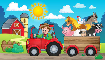 Illustration pour Tractor theme image 3 -   vector illustration. - image libre de droit