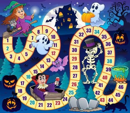 Ilustración de Board game  Halloween - Imagen libre de derechos