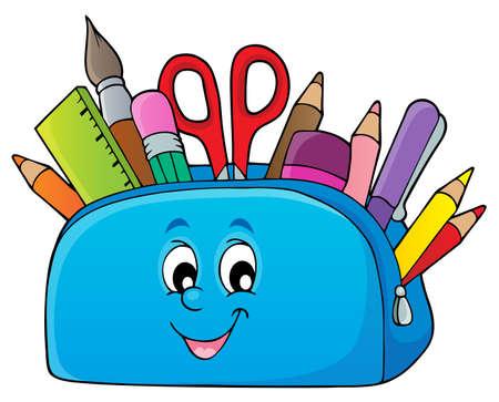 Illustrazione per Pencil case theme image 2 - eps10 vector illustration. - Immagini Royalty Free