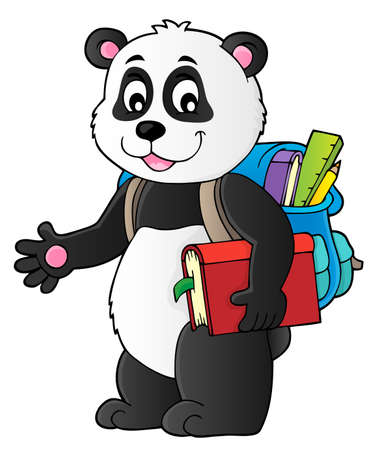 Illustration for School panda theme image 1 - eps10 vector illustration. - Royalty Free Image