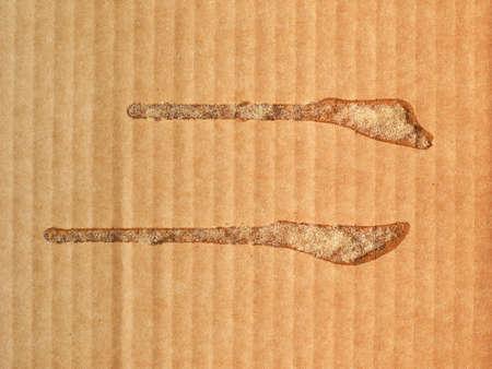 Foto de brown corrugated cardboard texture with glue useful as a background - Imagen libre de derechos