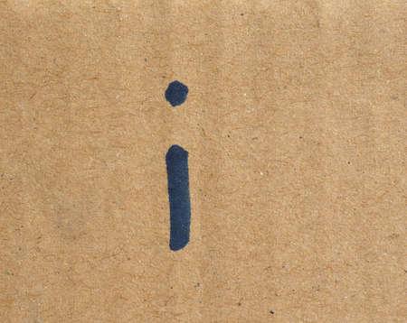 Foto de letter i meaning information written on corrugated cardboard - Imagen libre de derechos