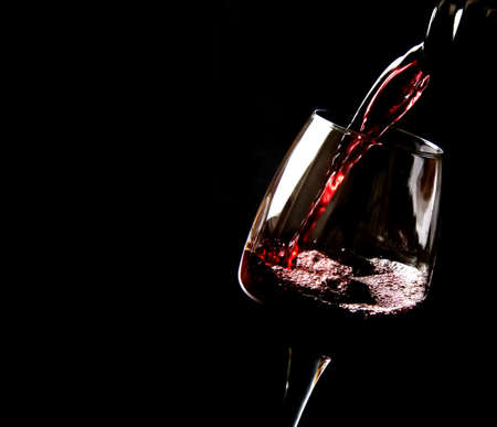 Photo for Wine poured on a glass - Royalty Free Image