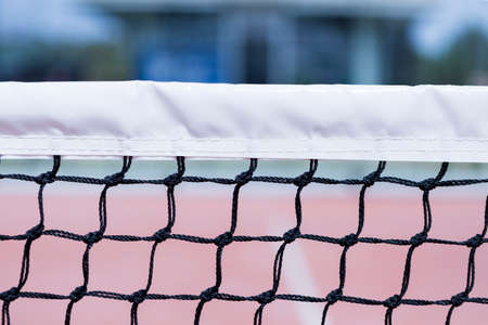 Foto de detail of a part of the paddle tennis net - useful as a background - focus on the center of the image - Imagen libre de derechos