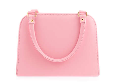 Photo for Pink women bag isolated on white background - Royalty Free Image