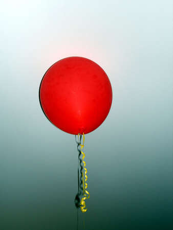 Red Balloon on Graduated Background