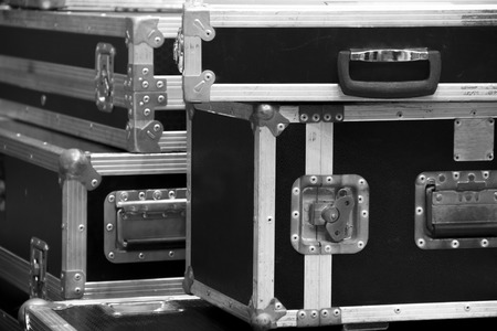 Foto de aluminium wooden flight case for DJ box instrument tools - Imagen libre de derechos