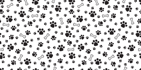 Ilustración de Dog Bone Seamless pattern vector dog paw doodle isolated wallpaper background - Imagen libre de derechos