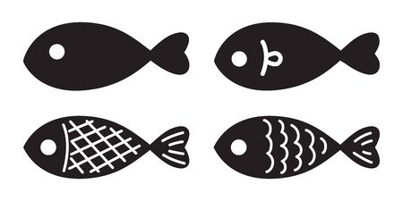 Ilustración de fish vector salmon icon illustration character graphic symbol cartoon - Imagen libre de derechos