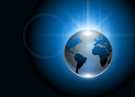 Ilustración de Abstract background blue glowing earth globe  - Imagen libre de derechos