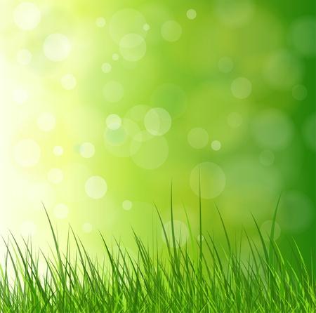Illustration pour Natural green background with grass. - image libre de droit
