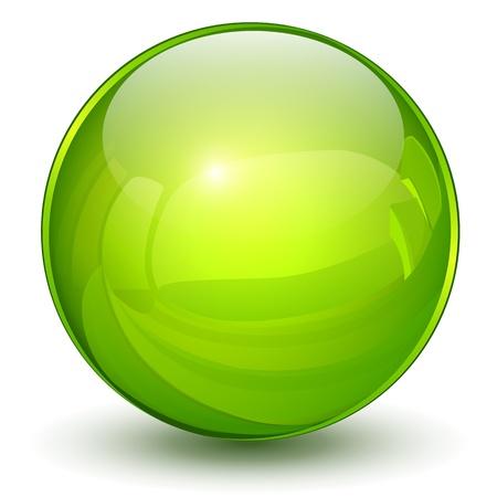 Glossy sphere 3D green