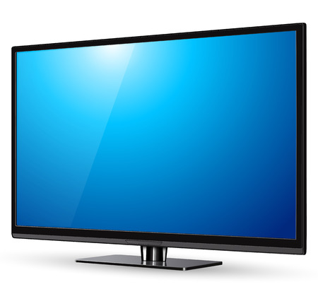 Illustrazione per TV, modern flat screen lcd, led, vector illustration. - Immagini Royalty Free