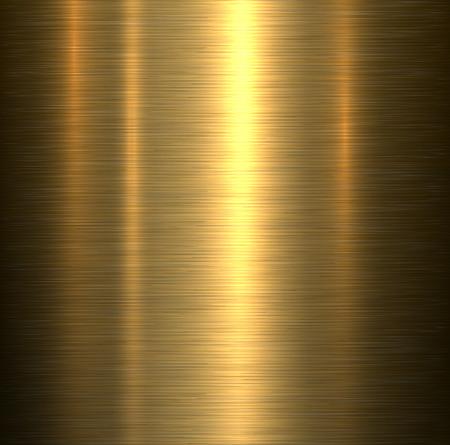Illustration pour Metal background, gold brushed metallic texture plate. - image libre de droit