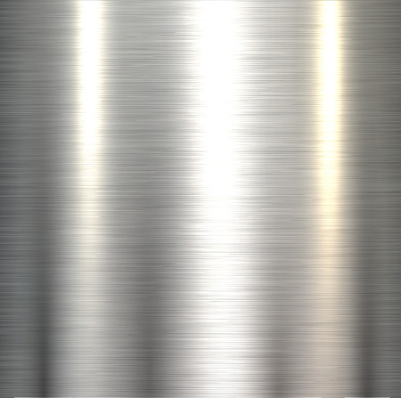 Illustration pour Steel metal background polished metallic plate texture . - image libre de droit