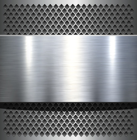 Metal plate texture polished metal background illustration.