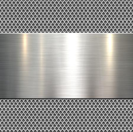 Photo pour Background, polished metal texture, vector. - image libre de droit