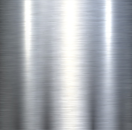 Illustration pour Steel metal background brushed metallic texture with reflections. - image libre de droit