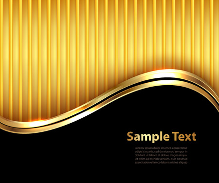 Ilustración de Business background, elegant gold and black, vector illustration. - Imagen libre de derechos