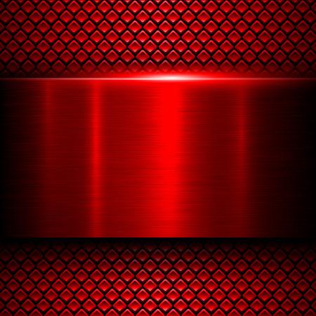 Illustration pour Background red metal texture, vector illustration. - image libre de droit
