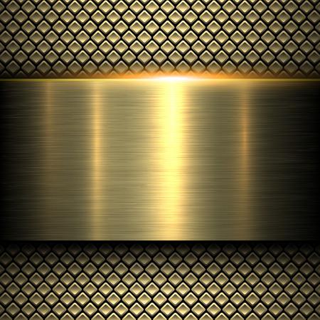 Illustration for Background gold metal texture, vector illustration. - Royalty Free Image