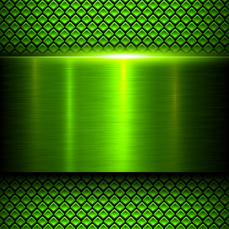 Photo for Background green metal texture, vector illustration. - Royalty Free Image
