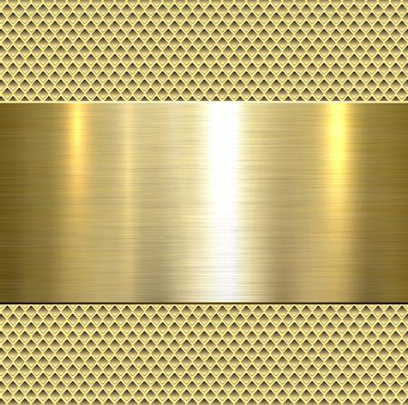 Illustration pour Background, polished metal texture, vector. - image libre de droit