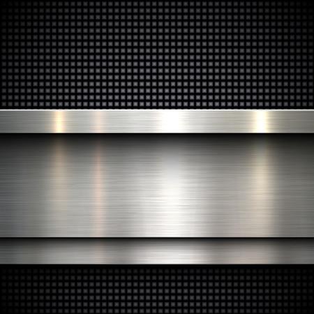 Illustration pour Abstract metal template background design, vector illustration - image libre de droit