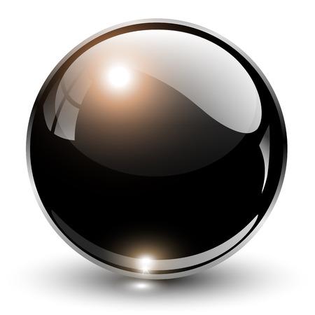 Ilustración de 3D crystal sphere illustration. - Imagen libre de derechos