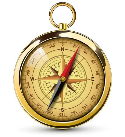Ilustración de Old compass with windrose Illustration. - Imagen libre de derechos