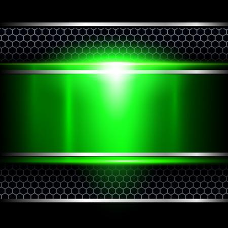 Illustration pour Background abstract green metallic, vector illustration. - image libre de droit
