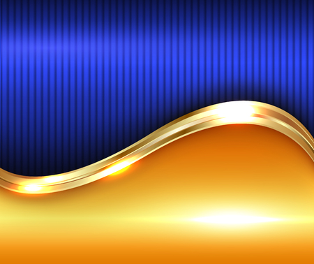 Illustration for Abstract gold shiny background, illustration. - Royalty Free Image