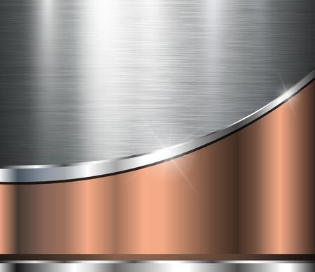Illustration pour Metallic background polished steel texture, vector design. - image libre de droit