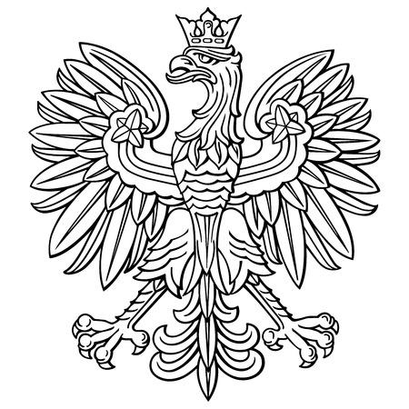 Ilustración de Poland eagle, polish national coat of arm, detailed vector illustration. - Imagen libre de derechos