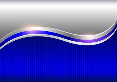Ilustración de Background silver blue, elegant business vector abstract background. - Imagen libre de derechos