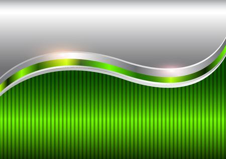 Ilustración de Background silver green, elegant business vector abstract background. - Imagen libre de derechos