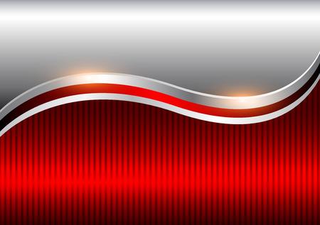 Ilustración de Background silver red, elegant business vector abstract background. - Imagen libre de derechos