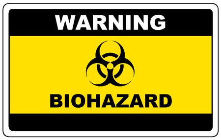 Ilustración de Biohazard, danger sign warning, vector dangerous symbol. - Imagen libre de derechos