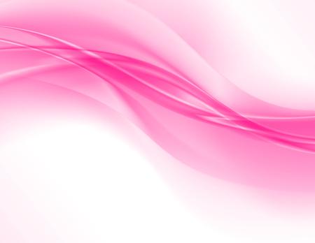 Ilustración de Abstract pink background, elegant wavy vector illustration - Imagen libre de derechos