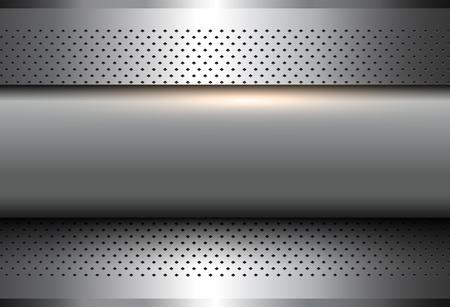 Ilustración de Abstract  background silver 3d shiny metallic, vector illustration. - Imagen libre de derechos
